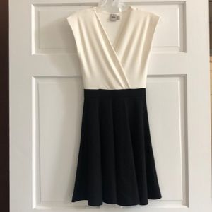 ASOS black and white sleeveless dress